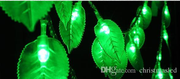 USB/ tail plug Christmas light Holiday leaves 10m 100 LED 8 modes choice Red/green/RGB Fairy Lights Waterproof Party holiday Garden light