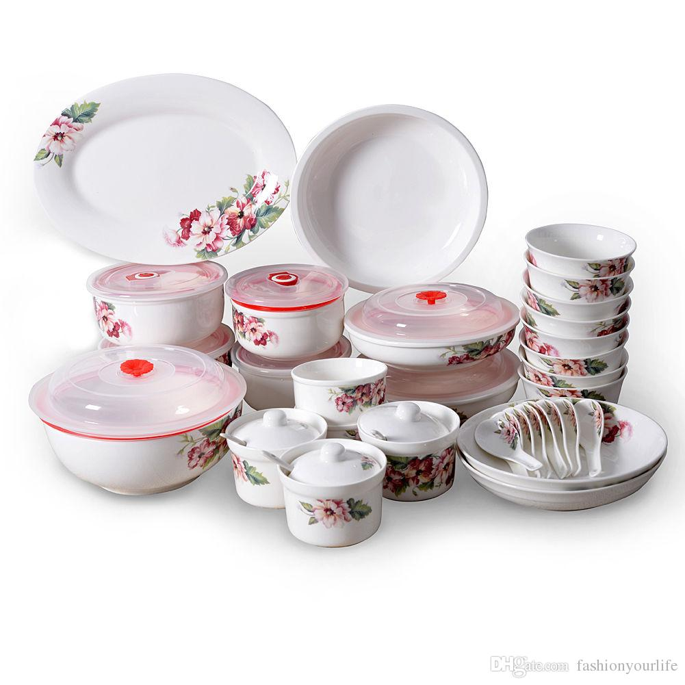 48-Piece Ceramics Dinnerware Set Dishes Plates Bowls Tableware Set China Cutlery Plates Bowls Dinner Service USA Stock Ceramics Dinnerware Dishes Bowls ...  sc 1 st  DHgate.com & 48-Piece Ceramics Dinnerware Set Dishes Plates Bowls Tableware Set ...