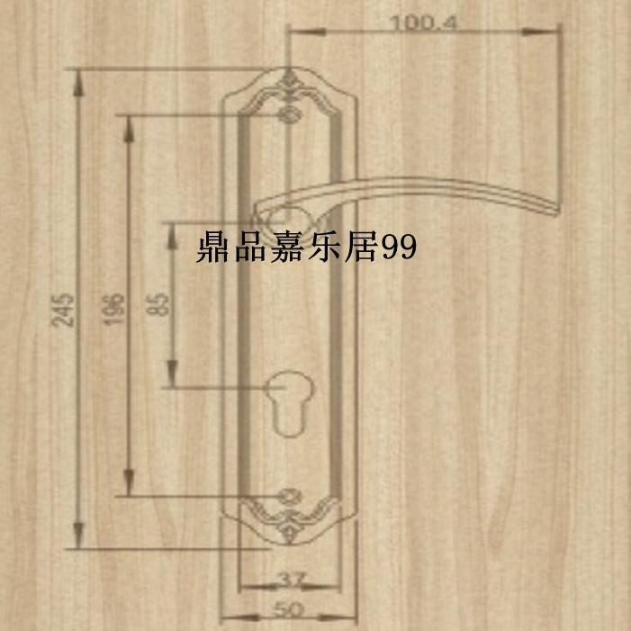 Autentica Taiwan goodlink topsystem rame serrature di rame europeo camera da letto interna porta LM 4765 PVD