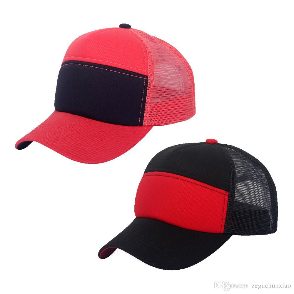 7916d75b5dc Hot Selling Men s Women s Mesh Trucker Hats 6 Panels Baseball Snapback Caps  Multi Color Mesh Trucker Hats Snapback Caps Baseball Snapback Caps Online  with ...