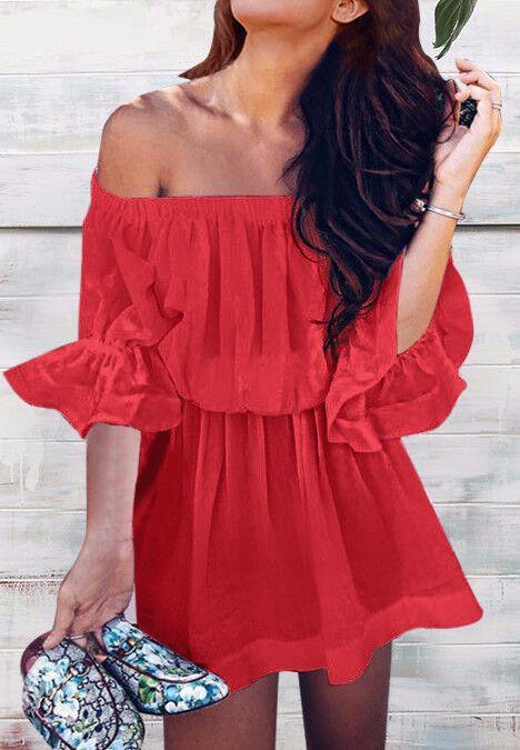 검정, 빨강 유럽 패션 단색 섹시한 끈이 긴 소매 허리 드레스 화이트, 지원 혼합 배치 장미