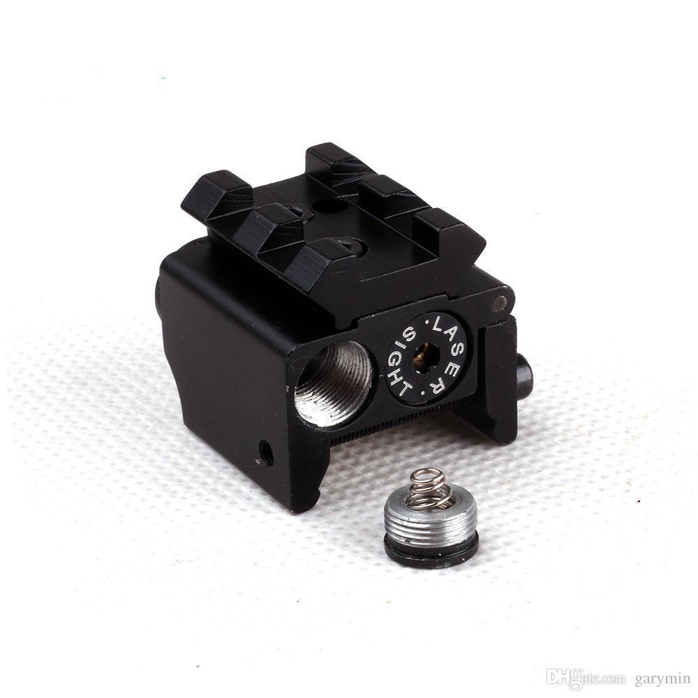 Mini Ajustável Tactical Compact Red Dot Laser Sight Scope Fit Para Arma Pistola Com Rail Mount 20mm ht034