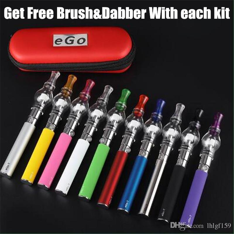 vape pens for wax Starter Kits electronic cigarettes ego Battery with glass globe dry herb dab pen kits e cigs herb vaporizers