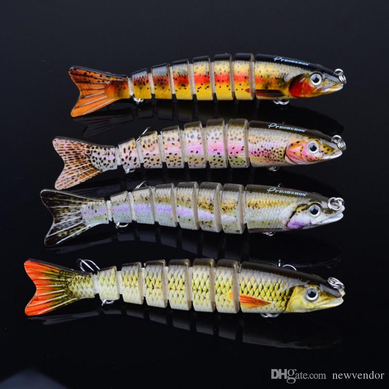 12.3cm / 17g Мульти шарнирного Bass Fishing Пластиковых Приманки Swimbait Раковина Крючки снасть высокого качества рыболовных приманок