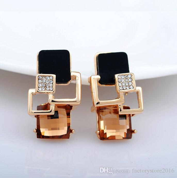 New Retro di alta qualità Magic Space piccolo incenso geometrica moda orecchini di diamanti le donne orecchini di cristallo orecchini