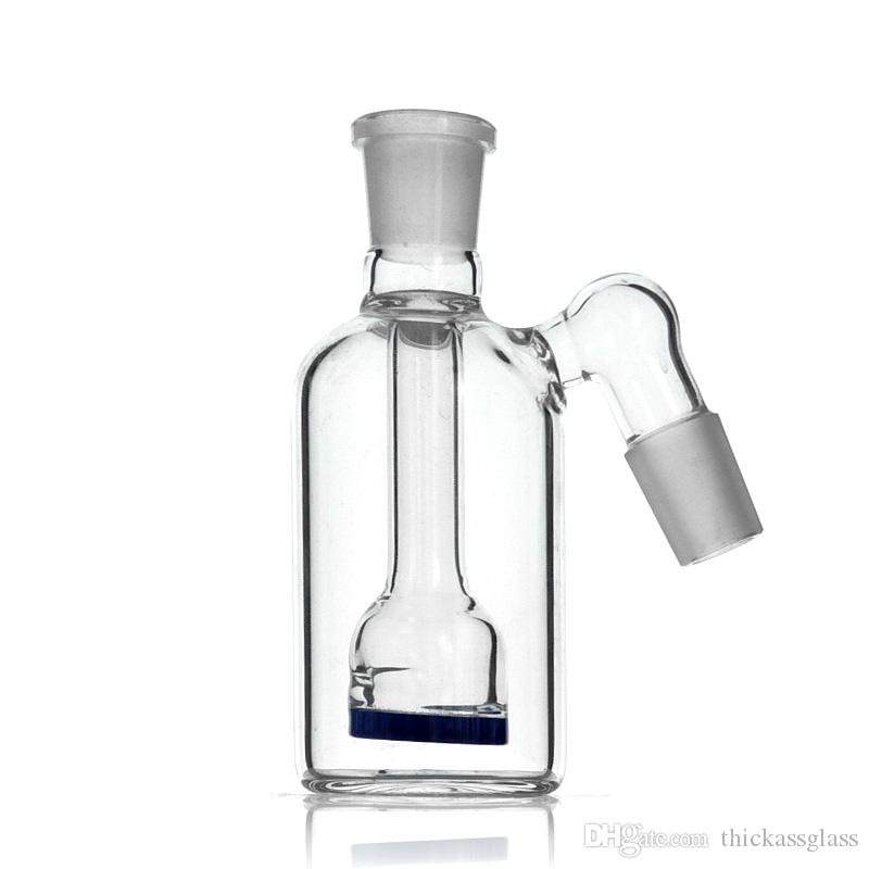 New arrival Inset Honeycomb Disc Percolator Ashcatcher with 18mm Male and 45 degree Angled joint BLUE color
