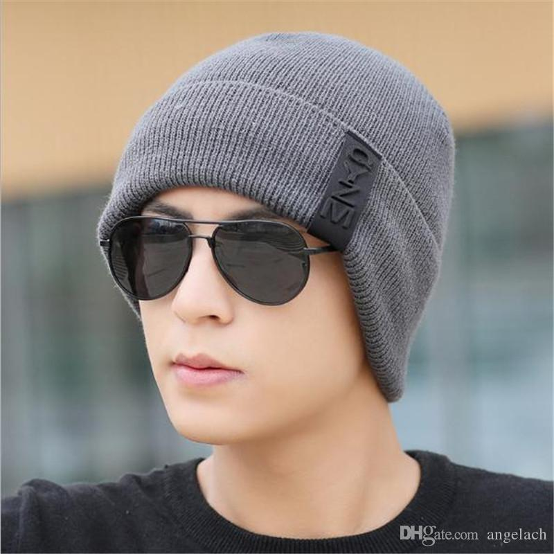 2017 New Knitting Hat Men Plus Wool Hat Thickened Cap QYMY Hat Fall ... 41f23c1268a