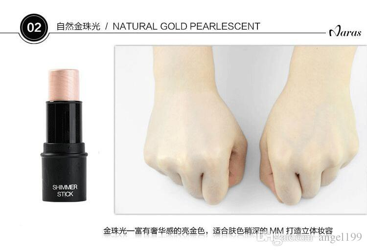 Naras Shimmer Highlighting Stick Maquillaje Marca Polvo Textura cremosa Impermeable Silver Shimmer Light es Oro Blanco Bronce 3.5 g