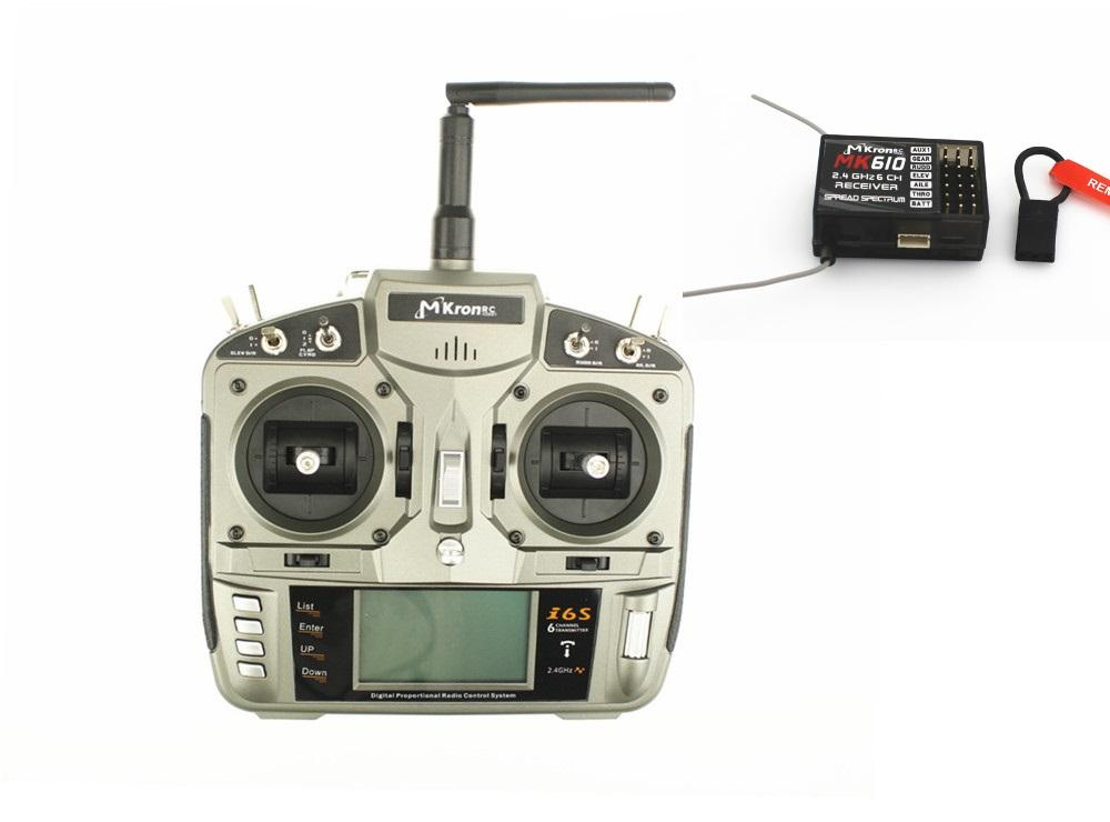 DX6i RC Full Range 2.4GHz DSM2 6-channel Remote Control with MK610 receiver Mode1 or Mode2 for Helicopters,Airplanes
