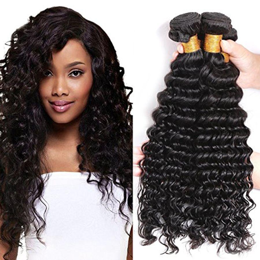 البرازيلي موجة عميقة عذراء الشعر البرازيلي الشعر حزم 3 قطع الكثير 7a 100٪ غير المجهزة الإنسان الشعر مصنع بيع رخيصة موجة عميقة مجعد نسج