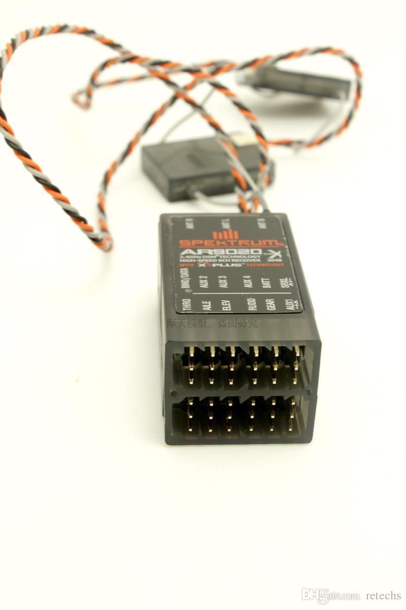AR9020 Receiver DSMX/XPlus 9 Channel Receiver with satellites high speed X-Plus Flight Log Telemetry compatiblerange