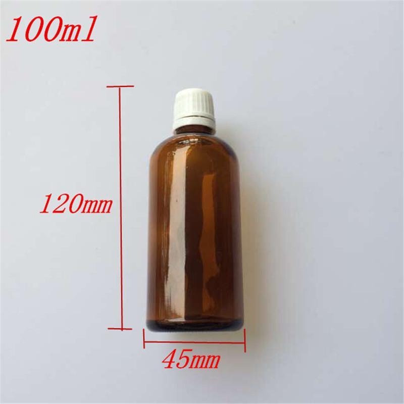45x120 Mm Empty Brown Glass Bottle Essential Oil Jar DIY 100 Ml ...