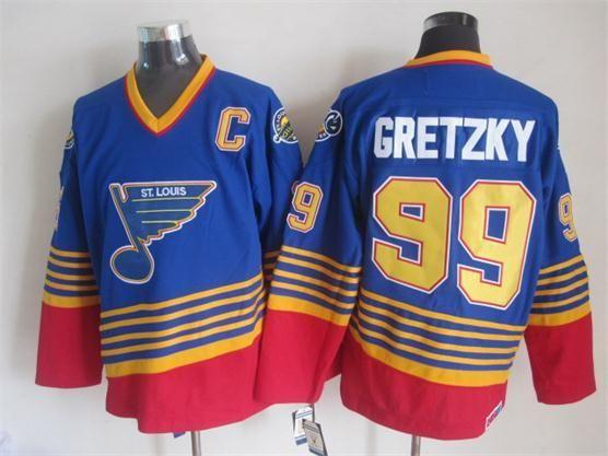 2018 St. Louis Blues Throwback Road Jersey Mens #99 Wayne Gretzky Blue Ccm  Vintage Ice Hockey Jersey Stitched Jerseys Hot Sale From Jerseystore, ...