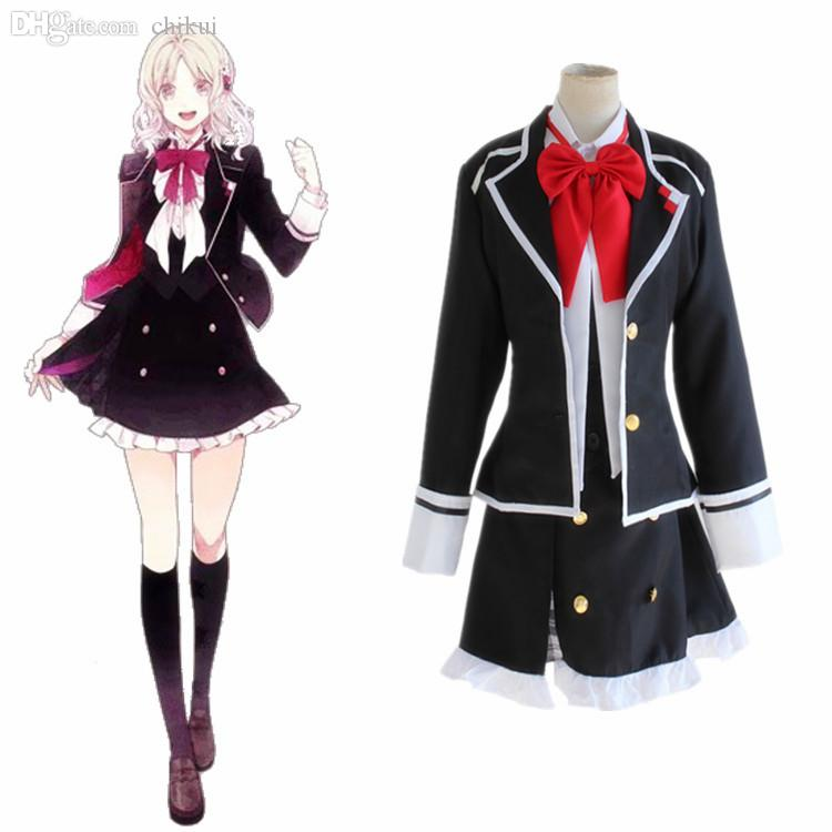 Wholesale Anime Diabolik Lovers Komori Yui Cosplay Costume
