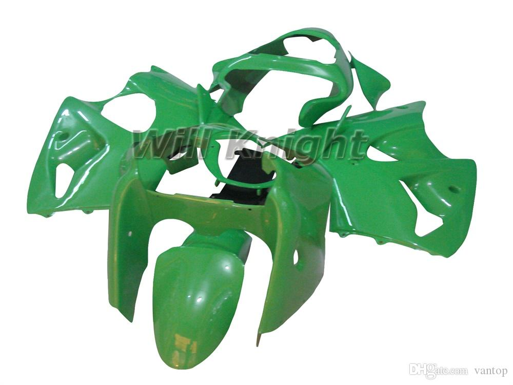 Motorcycle Frame Injection Mold Complete Body Fairing Kit for ZX-6R 2000 2001 2002 ZX6R 00 01 02 Green Black