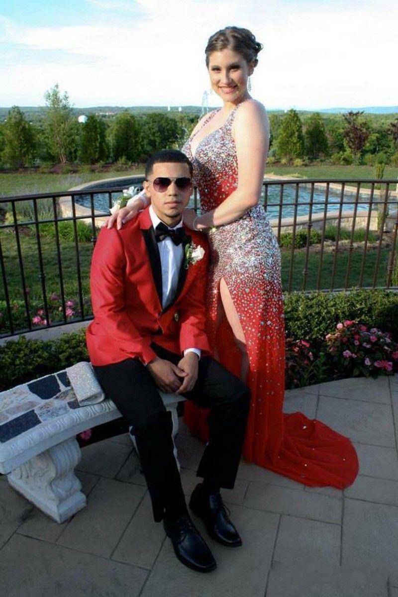 Сексуальные красные кристаллы из бисера платья выпускного вечера с открытой спиной и бретельками Вечерние платья для девочек Платья театрализованного дизайна на заказ Большой размер
