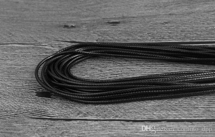 أسود الشمع جلد الأفعى قلادة 45CM 60CM حبل سلسلة الحبل سلك موسع سلسلة مع مكون والمجوهرات المشبك جراد البحر DIY الموضة في السائبة