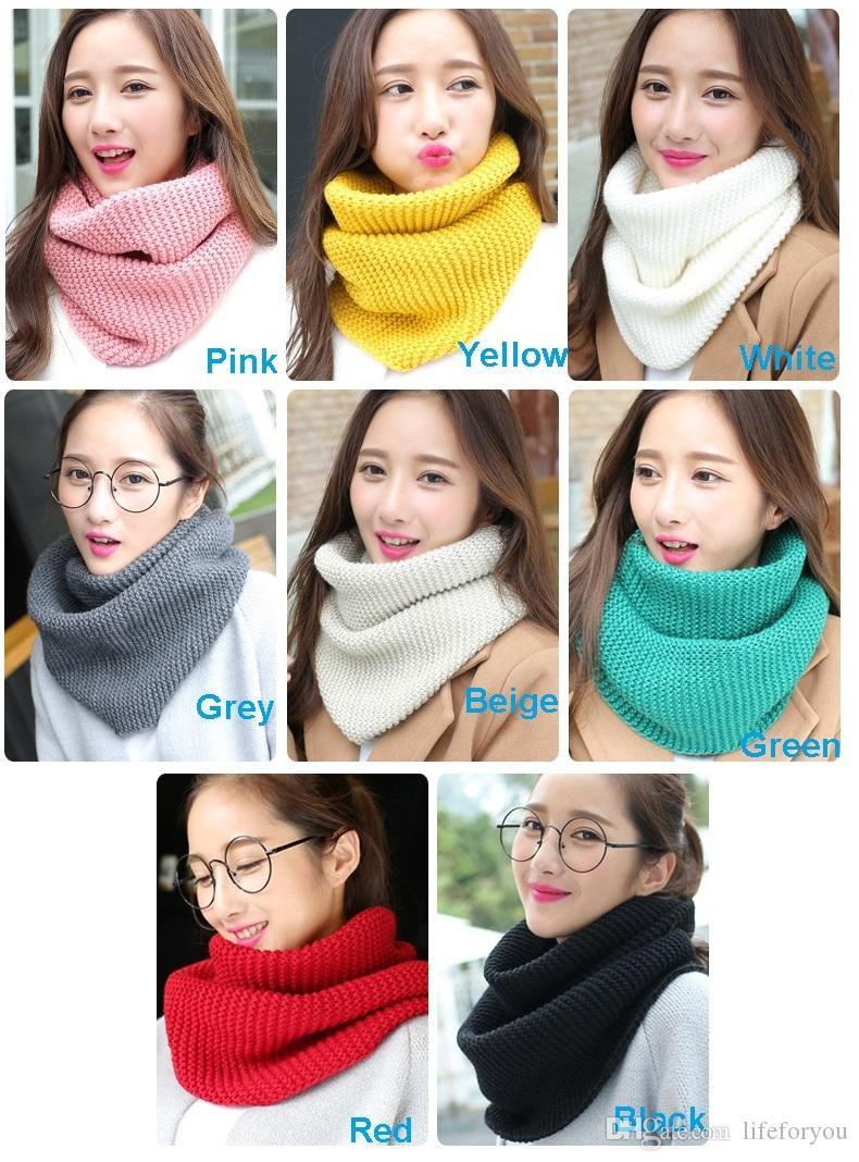 Hot Wholesale Knitted Scarf Snoods Kerchief Scarves women ladies top fashion Infinity Scarf muffler Bandanna Wrap Shawls