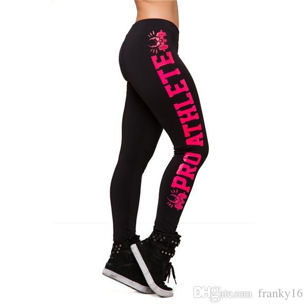 Europe Amérique Mode Design Sport Running Pantalon Fitness Crâne Lettre Imprimé Ascenseur Hanche Femmes Legging Élastique Plus La Taille 3XL 4XL