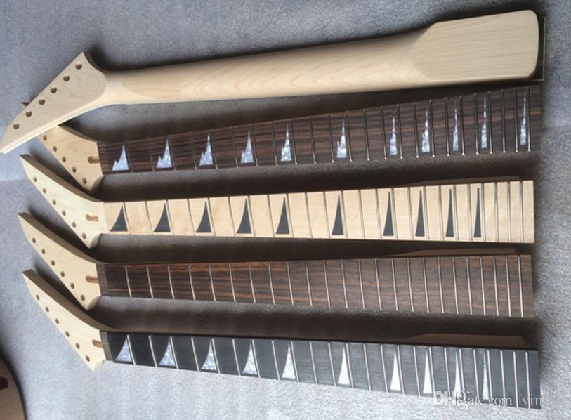 최고 품질 24 프렛 메이플 일렉트릭 기타 목 로즈 우드 지판 기타 부품 악기 액세서리