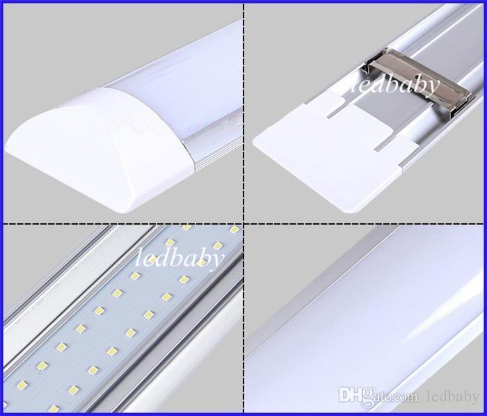 T8 Tube LED tri-proof Light Batten 1FT 2FT 3FT 4FT Explosion Proof Two LED Tube Lights Replace Fluorescent Light Fixture Ceiling Grille Lamp