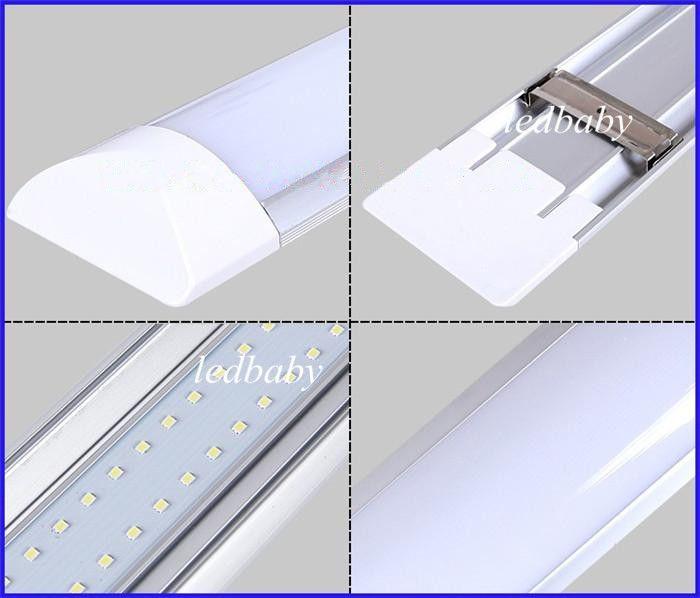 T8 Tubo LED Tri-prueba Luz Batten 1FT 2FT 3FT 4FT A prueba de explosiones Dos luces de tubo LED Reemplace la lámpara de rejilla de techo de luz fluorescente