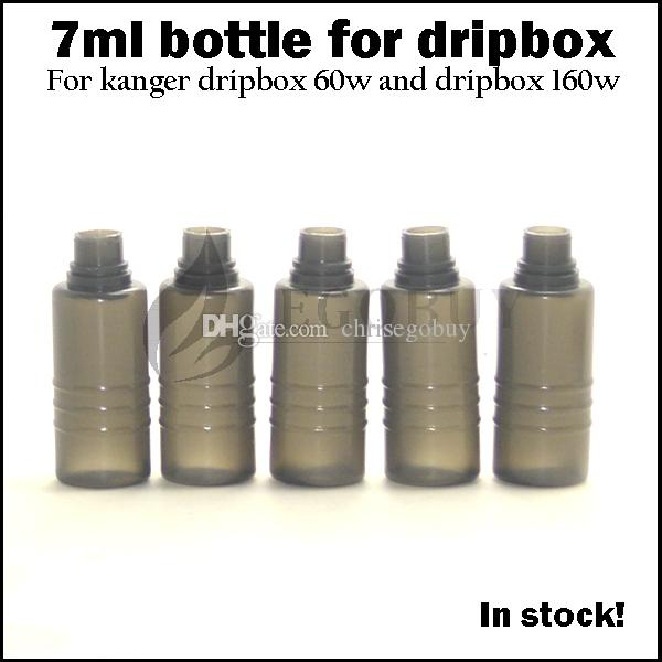 Dripbox 7ml e cigs juice e-liquid bottles Tanque de repuesto para kanger dripbox 60w starter kit subdrip 160 replacement plastic gotero botella negra
