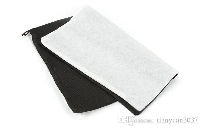 المبيعات الساخنة السفر التخزين الأحذية الغبار واقية حمل حقيبة الغبار حالة أسود / أبيض غير المنسوجة حقيبة تخزين الأحذية السفر