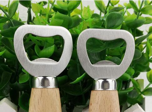 Kitchen Bottle Opener Tools Wooden Handle Beer Openers Wedding Favors Bar Tools Soda Beer Bottle Cap Opener Wine Bottle Opener Tool