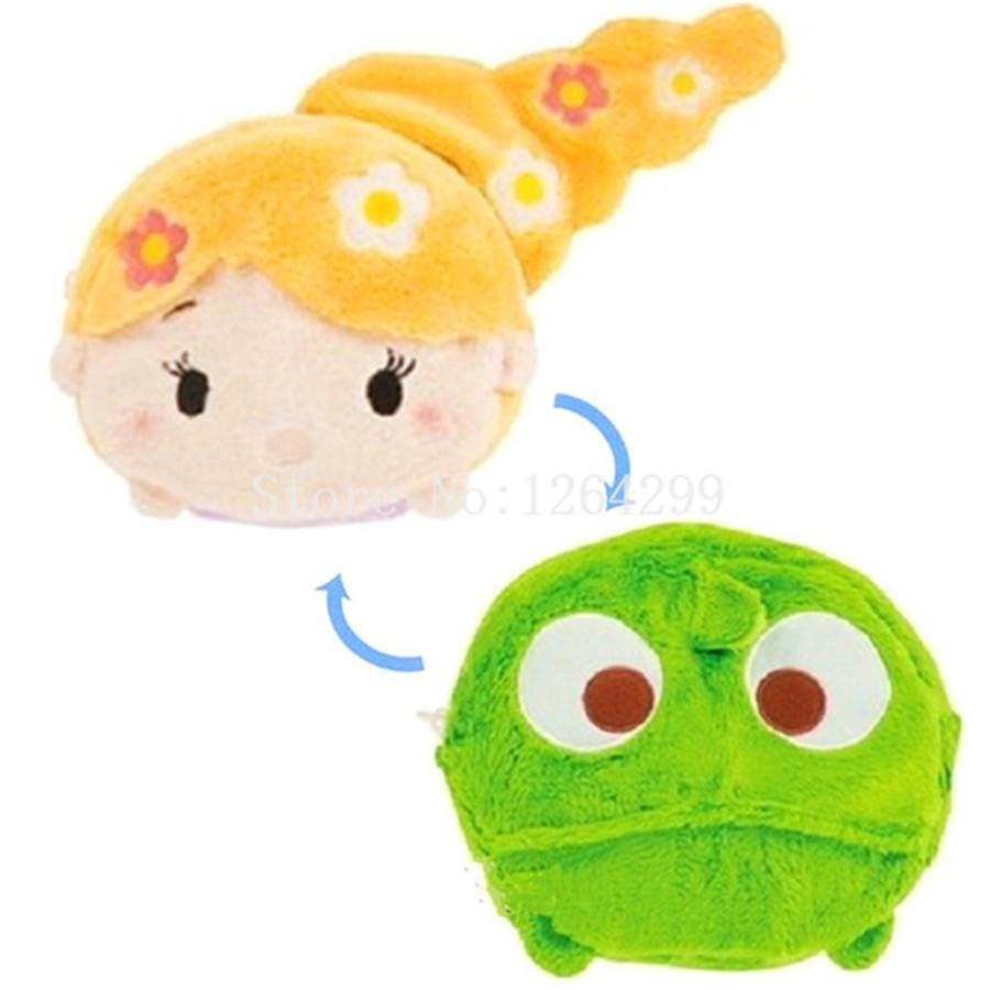257862fd1fd5 New Tsum Tsum Rapunzel Princess Fashion Makeup Bag And Pascal Girls Woman  Small Reversible Plush Stuffed Cute Cosmetic Bags Cases Cosmetics Products  Face ...