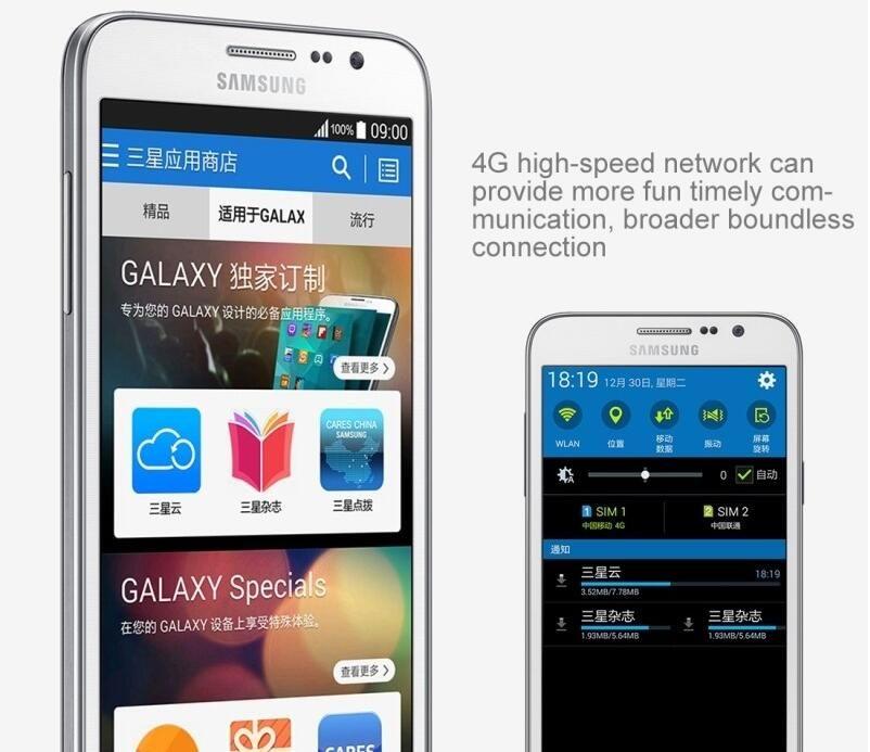 Refurbished Samsung Galaxy Grand Max G7200 Unlocked Phone Quad Core 1.5GB/16GB 13MP 5.25 inch 4G LTE Dual SIM