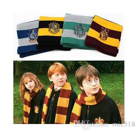 Großhandel Mode Harry Potter Schal Schals Gryffindor Hufflepuff