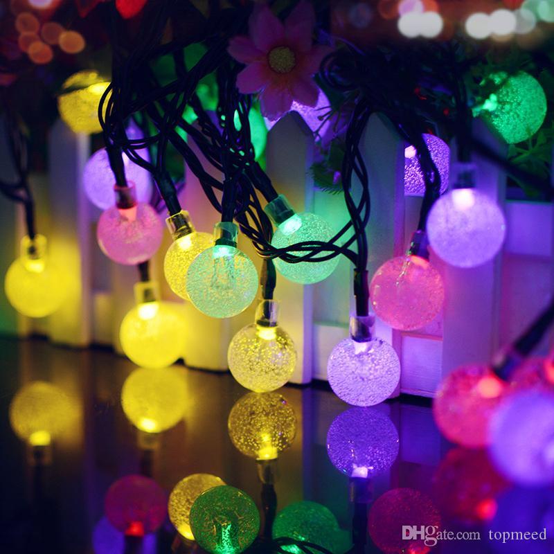 Solar Powered Christmas Lights Ball Led Solar String Lights 16ft 20 Leds  Waterproof Fairy Lighting For Christmas Trees Garden Light Novelty String  Lights ...