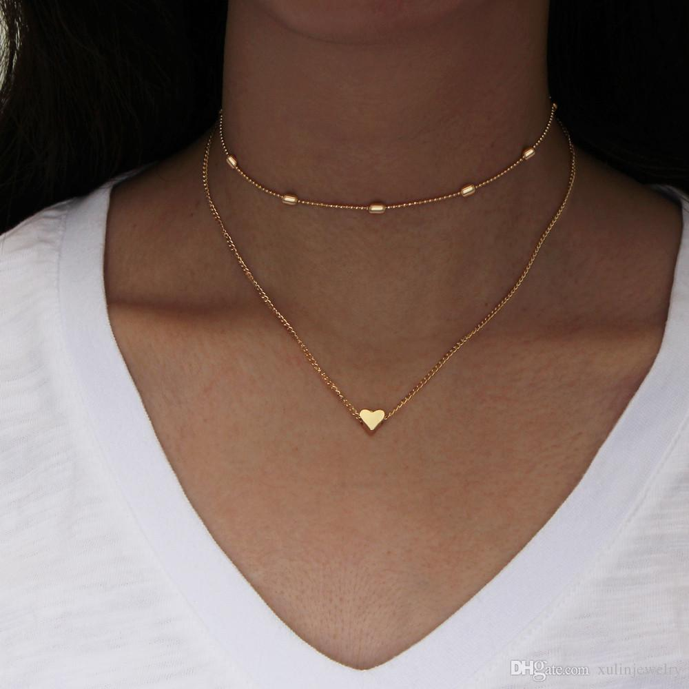 golden jewellery simple necklace set