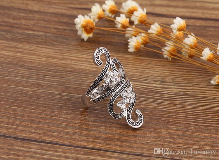 레트로 실버 반지 뜨거운 판매 절묘한 귀여운 성격 펑크 스타일의 손가락 손톱 반지 패션 보석 도매 무료 배송 - 0371WH