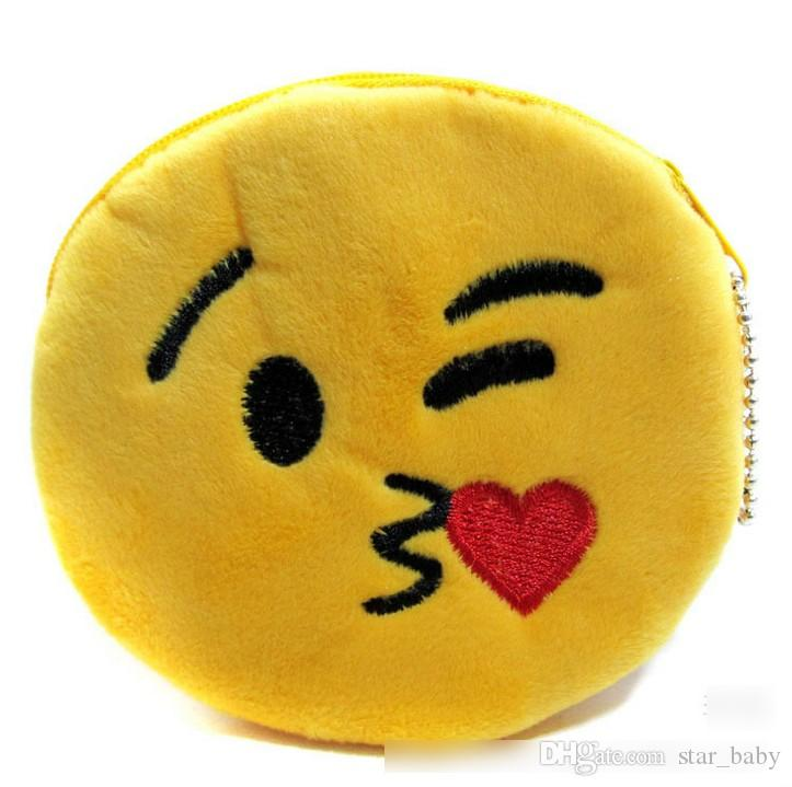 10 Дизайн QQ выражение монета кошельки симпатичные Emoji монета сумки плюшевые кулон женские девушки творческий Chirstmas подарки высокое качество 11 см K7030