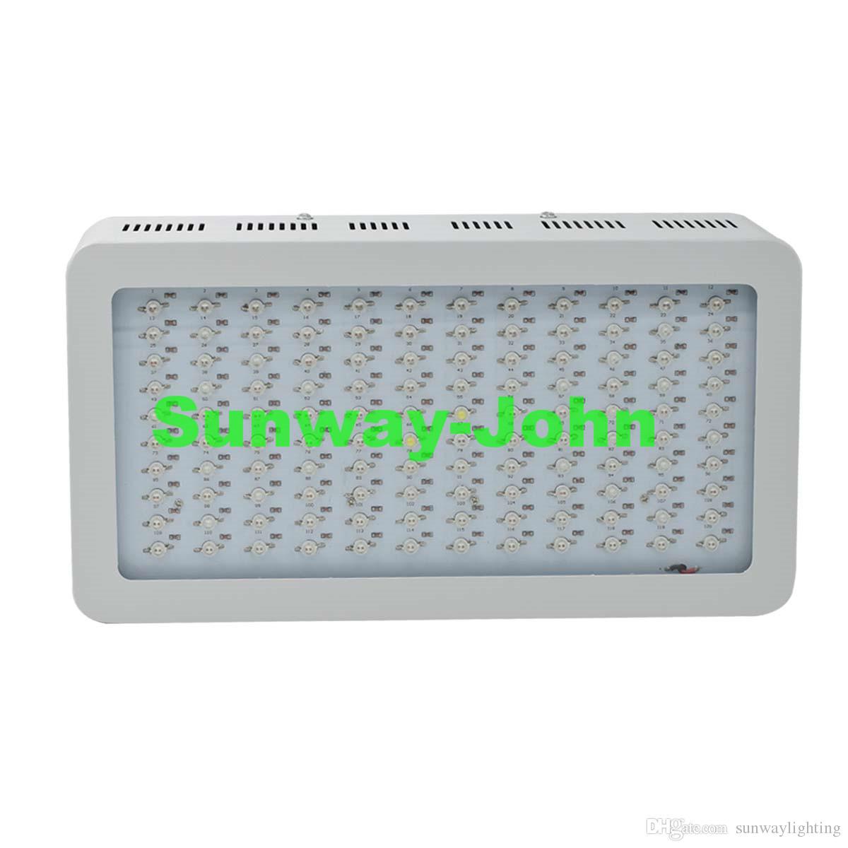 Espectro completo LED crece crece Luz 1200W Doble astillas LED Crecen luces Sistemas hidropónicos interiores Plantas lámpara para floración y crecimiento