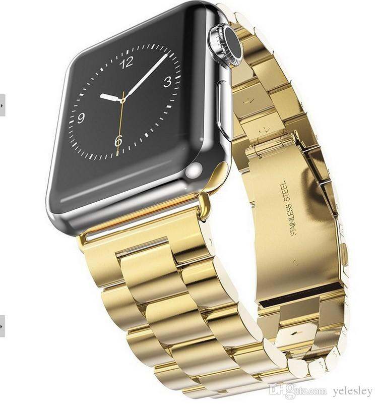 Iwatch 애플 시계에 대한 Hoco 스테인레스 스틸 시계 밴드 애플 시계 38 42mm 시계 밴드 교체 손목 스트랩 버클