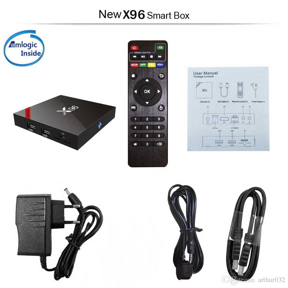 X96 X96W Android 7.1.2 TV Box Amlogic S905W 2 GB 16 GB Quad Core 2,4 GHz WiFi 4K H.265 DLNA Media Player 1 G / 8 G HD 1080 P Smart Set-top Box