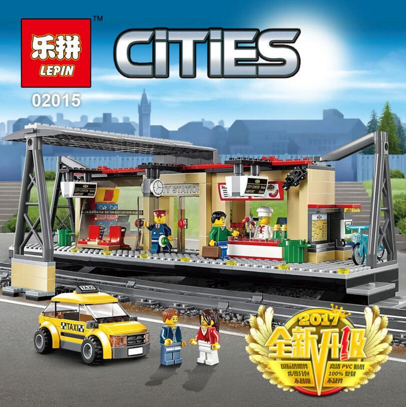 wholesale Lepin City Series Train Station Brick Toy DIY Educational Building Block Toys For Children For Kids 60050