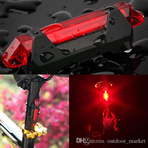 LED rosso ricaricabile USB Light Head Flash Flash Bike Bike Stop Rear Tail 100LM