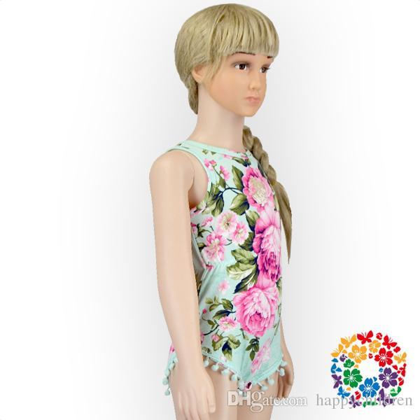 00947ff02c9 01 Boutique Design Newbron Kids Aqua Big Floral Print Summer Pom Pom Bubble  Romper Pom Pom Romper Girls Pom Pom Rompers Baby Pom Pom Romper Online with  ...