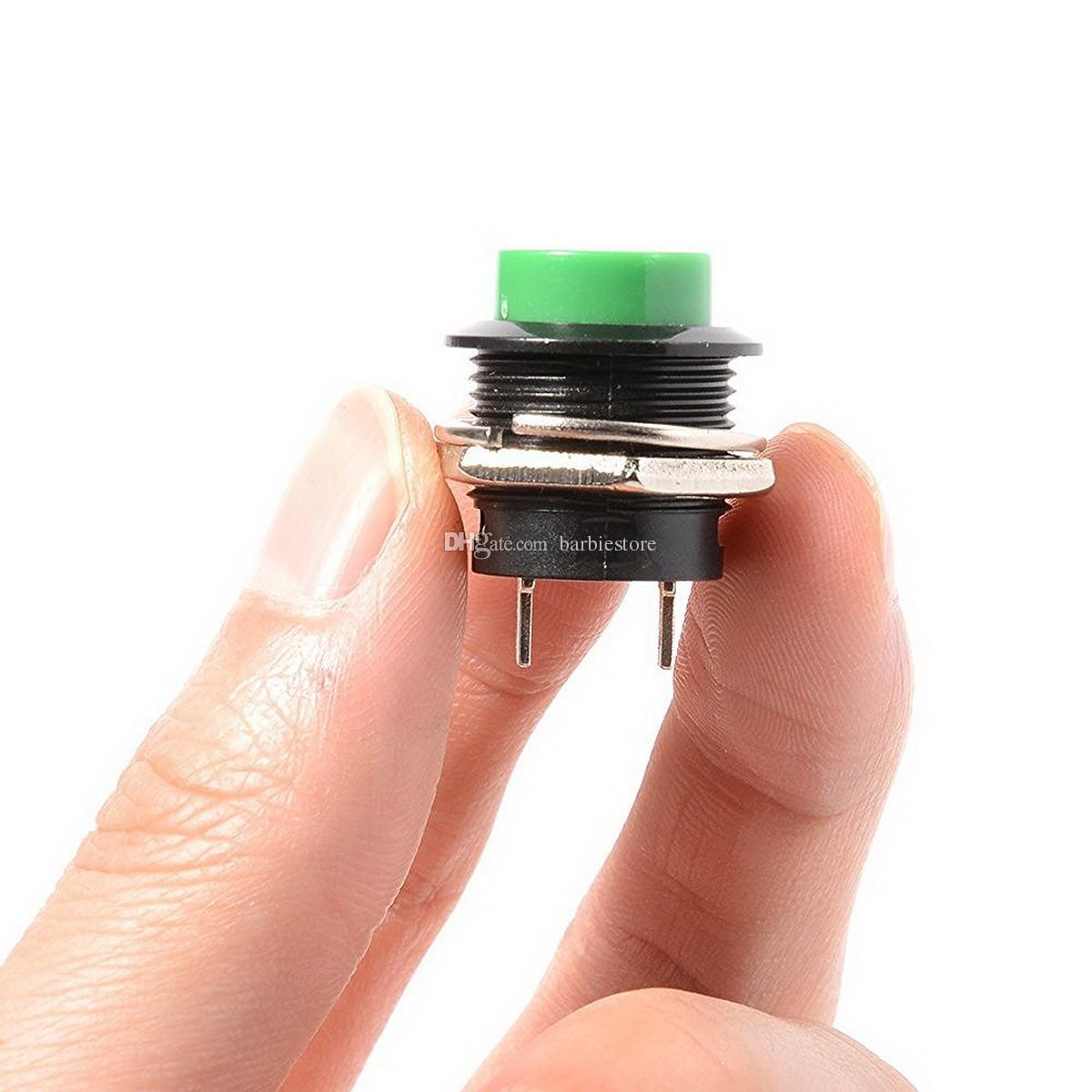 commutateur momentané d'installation de bouton poussoir trou 16mm R13-507 3A 125V B00461