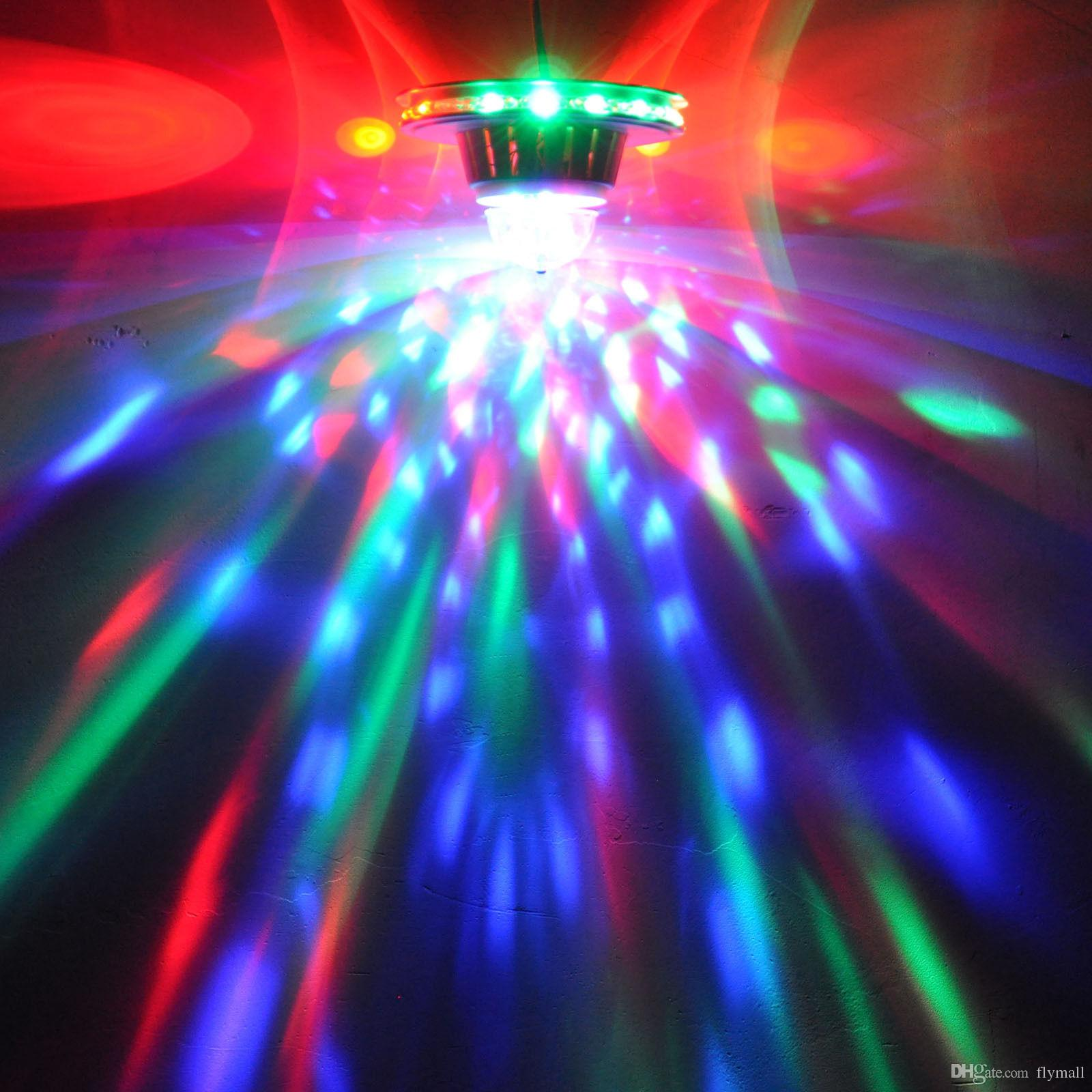 48 المصابيح 8 واط الدوارة rgb led لمبة اللون تغيير كريستال ماجيك عباد الشمس الكرة ضوء led الآثار rgb كريستال المرحلة ضوء لعيد الميلاد حزب ديسكو