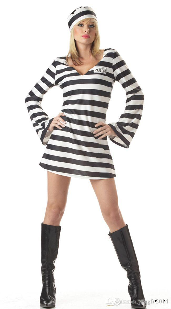 xingfu2014 sexy adult female prisoners serving halloween costume play clothes couples striped prisoner clothing tinkerbell halloween costume sexy adult