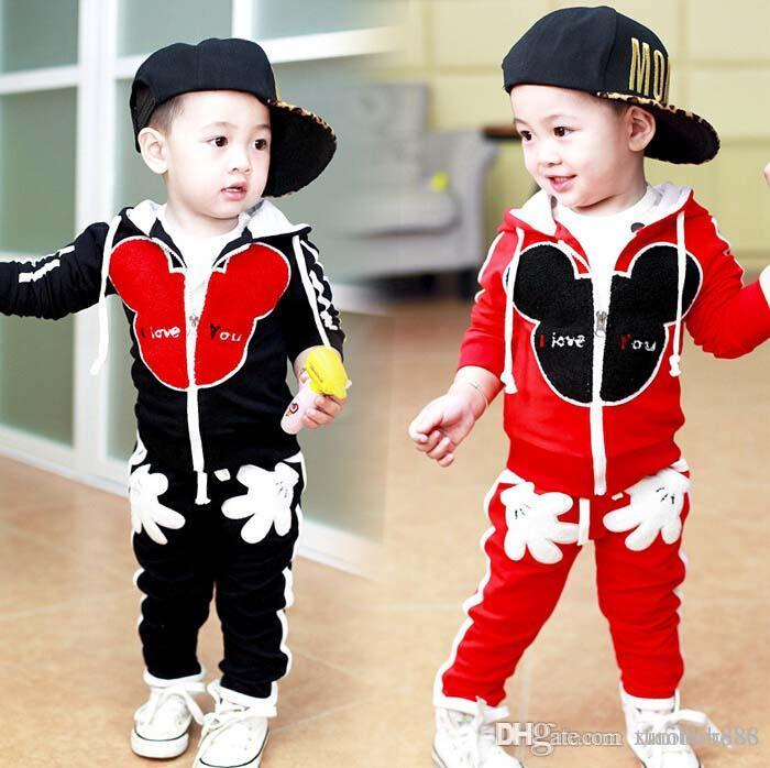54614e6cf 2016 new spring and autumn children's sets Children Tracksuit kids clothing  suit boys and girls hoodie coat and pants 2pcs/suits.