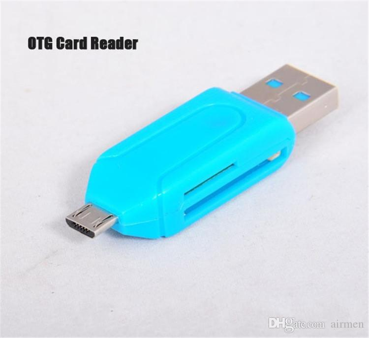 2 in 1 USB Male To Micro USB Dual Slot OTG Adapter With TF/SD Memory Card Reader 32GB 4 8 16GB For Android Smartphone Tablet Samsung