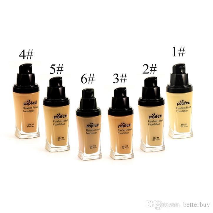 Discount price Popfeel Liquid Concealer Foundation Flawles Finish Foundation Popfeel Cosmetics Makeup Liquid Foundation DHL Free