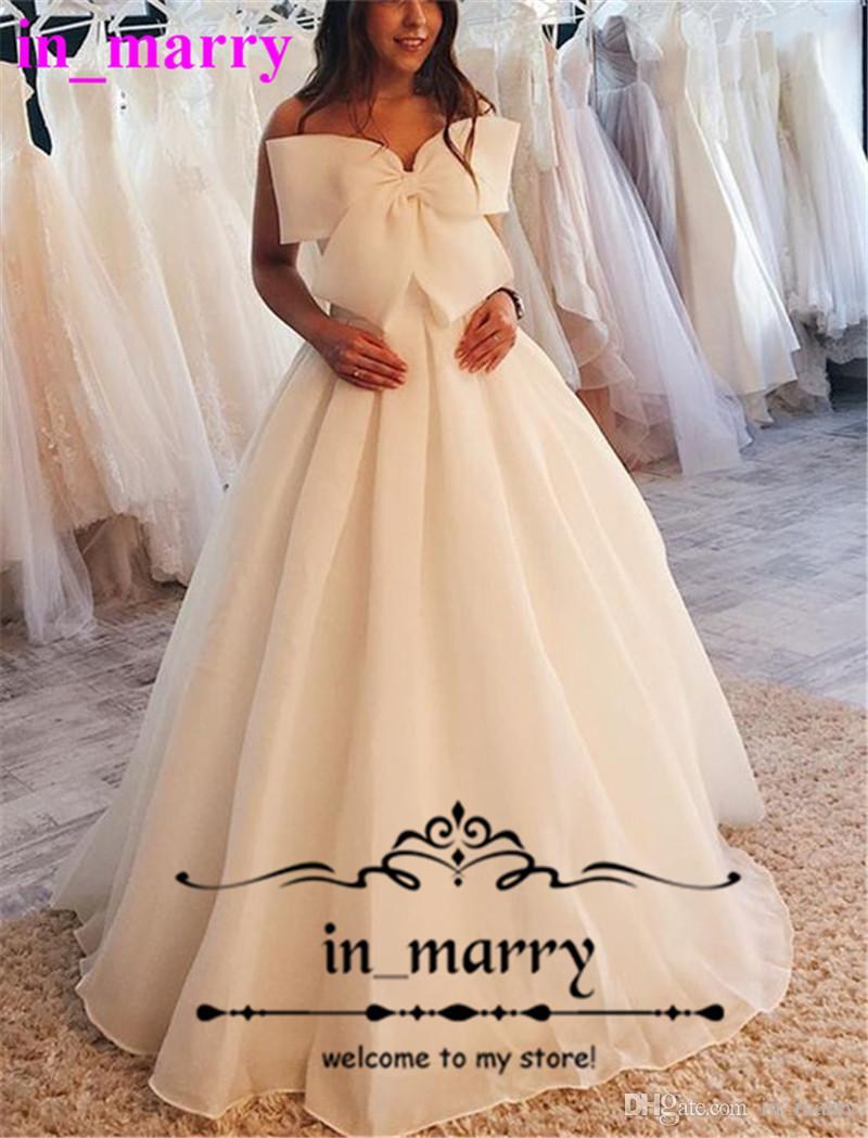 Discount Modest Plus Size Country Beach Wedding Dresses 2018 A Line Sweetheart Knot Bow Cheap Simple Bohemian Greek Style Bridal Gown Vestido Novia Unique