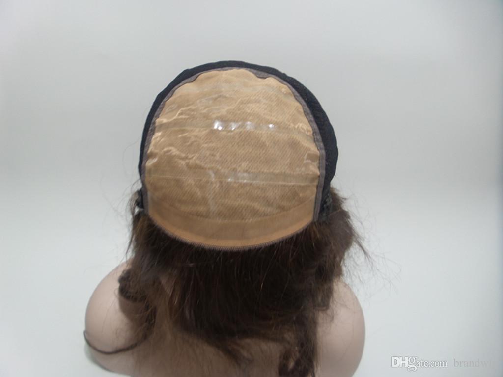 Vendita calda parrucche brasiliane del virgin 100% del merletto completo parrucche del merletto le donne nere Parrucca anteriore del merletto con i capelli del bambino u parte parrucche dei capelli umani # 2 Kabell